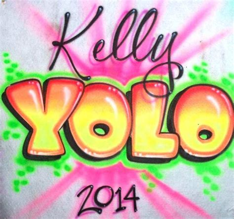 onceyolo personalized airbrushed shirt