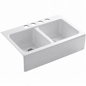 farmhouse apron kitchen sinks kitchen sinks the home With 2 basin farmhouse sink