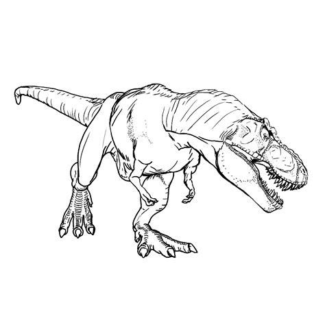 T Rex Kleurplaat leuk voor t rex