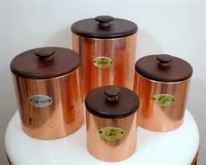kitchen canisters flour sugar copper kitchen canisters flour sugar coffee tea by chimpcetera