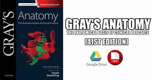 Gray U0026 39 S Anatomy  The Anatomical Basis Of Clinical Practice