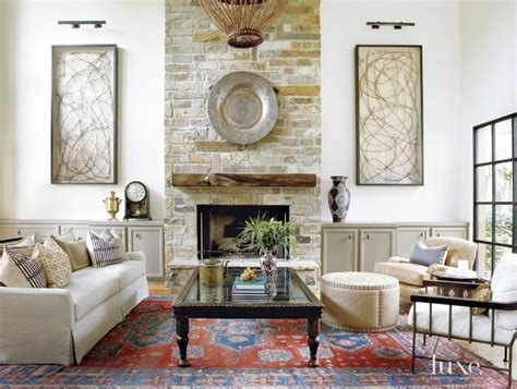 Candice Living Rooms With Fireplaces by Mediterranean White Living Room Limestone Fireplace Luxe