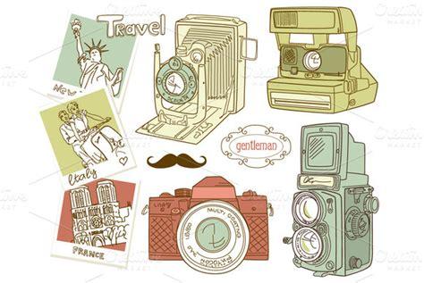 vintage camera digital clip art set illustrations