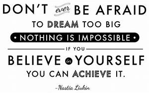 Horizontal Dream Believe Achieve Quote Wall Decal - Modern