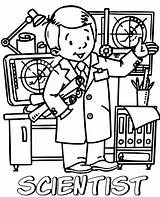 Scientist Coloring Printable Topcoloringpages sketch template
