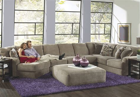 Malibu Taupe 3Pc. LAF Piano Wedge Sectional   Louisville