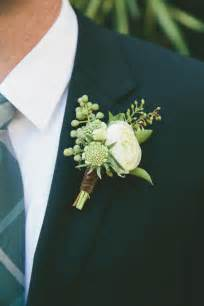 Eucalyptus and White Ranunculus Boutonniere