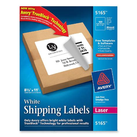 Avery Dennison Labels Templates by Mailing Label Avery Dennison 5165 Ave5165 Labels