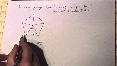 find  size   interior angle   pentagon