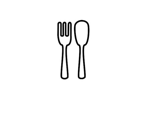 fork and knife clipart black and white fork clipart black and white clipart panda free