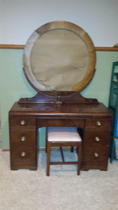 waterfall dresser vanity set value my antique