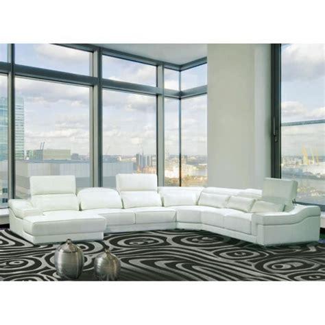 canap panoramiques canapé d 39 angle droit panoramique cuir blanc achat vente