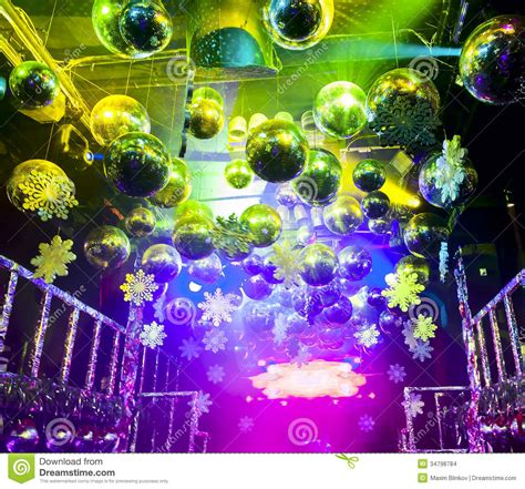 disco ball christmas lights disco ball in christmas at nightclub stock images image