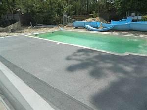 Beton Ciré Piscine : terrasse piscine beton colore ~ Melissatoandfro.com Idées de Décoration