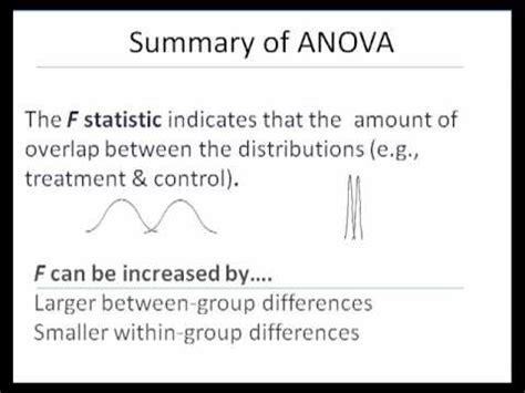 Anova (part B)  Interpretation And When To Use Youtube