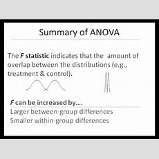 Anova (part B)  Interpretation And When To Use Youtube