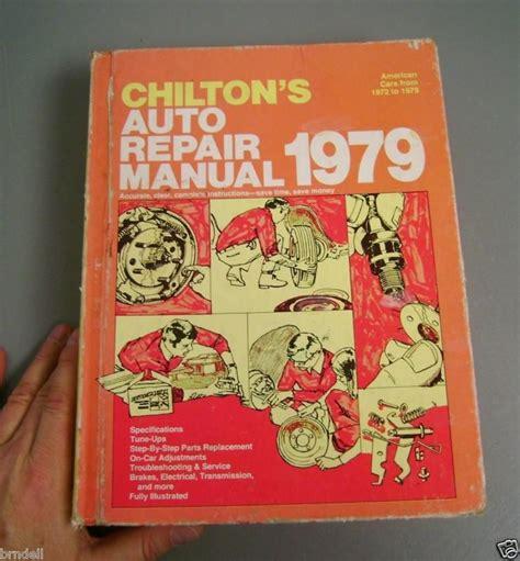 buy chilton auto repair manual american cars