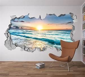 Beach View 3D wall art - Moonwallstickers com