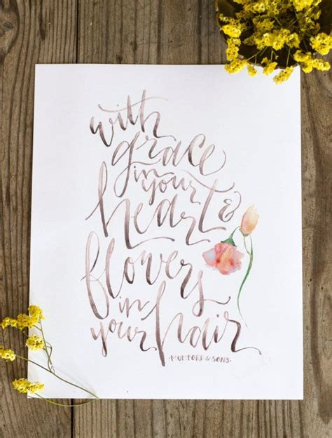 mumford and sons quotes flowers in your hair flowers in your hair mumford and sons lyric print