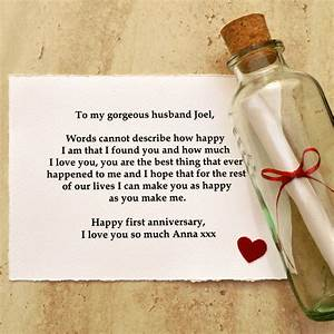 personalised message anniversary gift by jenny arnott With love letter in a bottle romantic personalized gifts