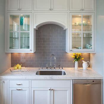 white kitchen with grey backsplash gray subway tile backsplash design ideas 1837