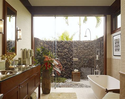 Outdoors Bathroom : 12 Tropical Bathrooms With Summer Style