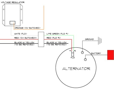 two wire alternator wiring diagram ford 3 pole wiring