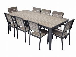 Table Et Chaise De Jardin En Bois : table en bois composite brooklyn residence mobilier de jardin aluminium bois ~ Teatrodelosmanantiales.com Idées de Décoration