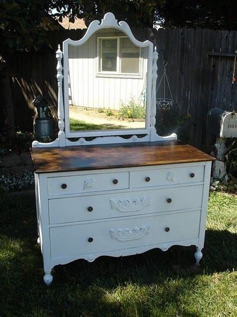 shabby chic dresser top antique shabby chic dresser with mirror walnut stained top holly paints pinterest