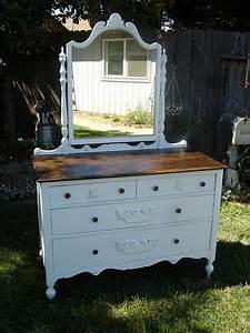 Shabby Chic Dresser : antique shabby chic dresser with mirror walnut stained top holly paints pinterest ~ Sanjose-hotels-ca.com Haus und Dekorationen