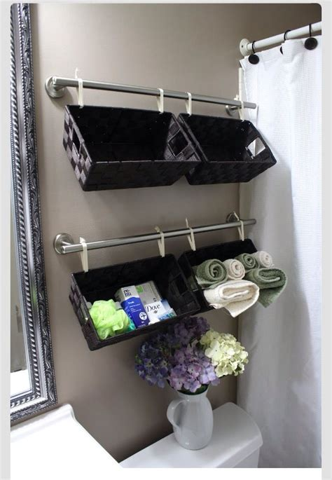 31 Innovative Small Bathroom Storage Ideas Pinterest