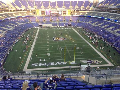 mt bank stadium section home baltimore ravens