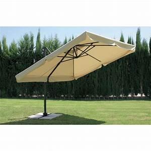 Jardiland Parasol Déporté : parasol d port et inclinable arosa diam tre 350 cm bricozor ~ Premium-room.com Idées de Décoration
