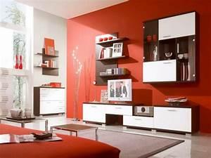 Wandfarben Wohnzimmer Beispiele : wohnzimmer wandfarbe rot ~ Markanthonyermac.com Haus und Dekorationen