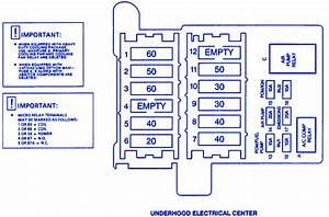 Cadillac Fleetwood 2001 Under The Hood Fuse Box  Block Circuit Breaker Diagram  U00bb Carfusebox