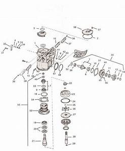 Upper Gearcase Omc Parts Drawing    400