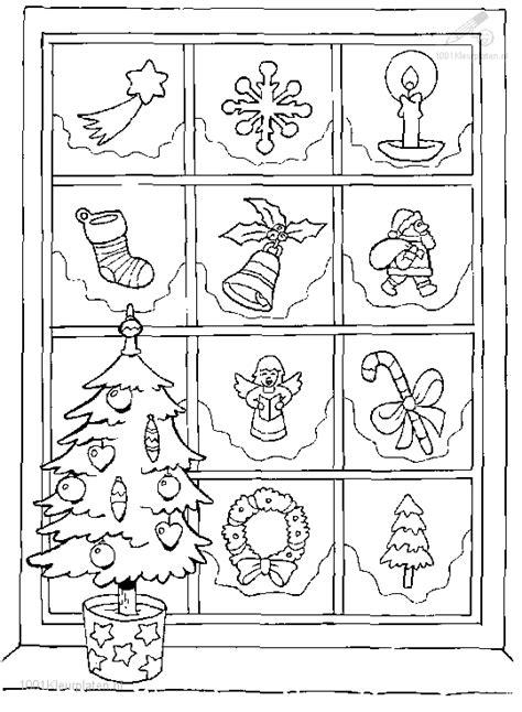 Kleurplaat Boom In De Nacht by Kerstboom Voor Versiert Raam