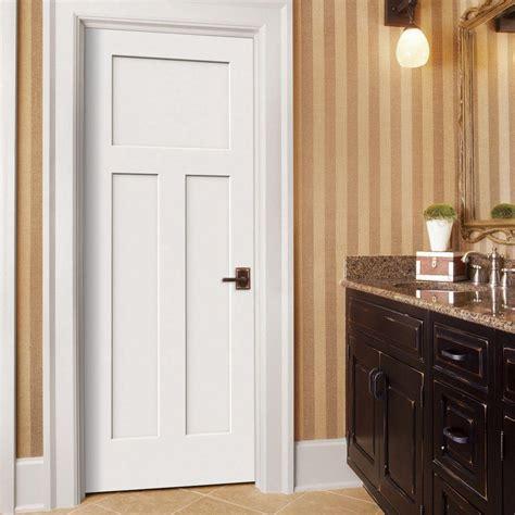 interior doors home depot jeld wen 32 in x 80 in molded smooth 3 panel craftsman