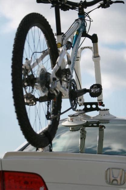suction cup bike rack suction cup roof mount bike rack from seasucker bikerumor