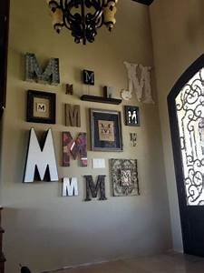 40 creative monogram wall art ideas With letter wall art ideas