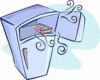 Freezer Clipart Freezing Cartoon Clip Ice Refrigerator
