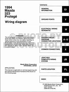 1995 Mazda 323 And Protege Wiring Diagram Original