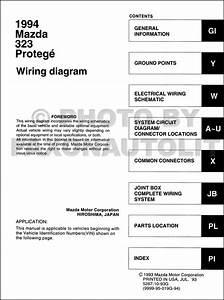 1993 Mazda 323 And Protege Wiring Diagram Manual Original