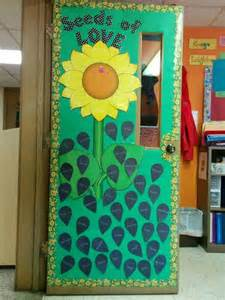 seeds of flower themed bulletin board flower and classroom