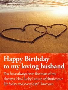 To my Wonderful Husband - Happy Birthday Card | Birthday ...
