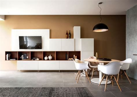 Studio Apartment With Warm Organic Color Scheme And