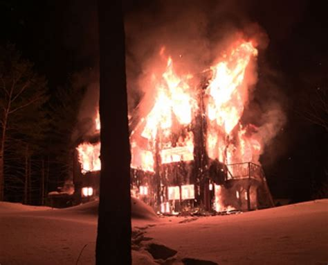 home trapped  snow burns  winter fire safety