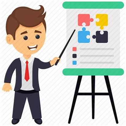Business Presentation Icon Seminar Training Meeting Businessman