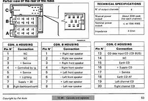 Fiat Car Radio Stereo Audio Wiring Diagram Autoradio Connector Wire Installation Schematic