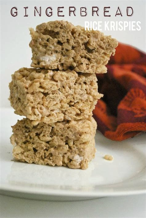rice krispies variations gingerbread rice krispie treats i may add gingerbread oreos if i can find them and